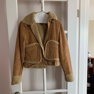 Fuzzy corduroy jacket